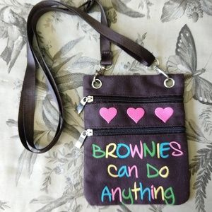 Other - BROWNIES | Girl Scouts Crossbody Zippered Bag